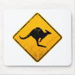 Kangaroo Vintage Sign Mousepads
