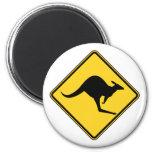 kangaroo warning danger in australia day refrigerator magnets