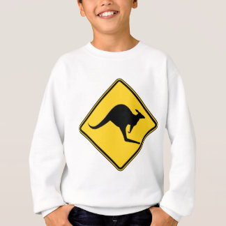 kangaroo warning danger in australia day sweatshirt