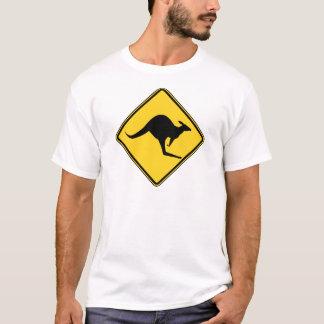 kangaroo warning danger in australia day T-Shirt