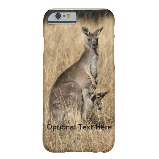 Kangaroo with Baby Joey in Pouch iPhone 6 Case
