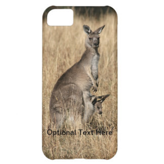 Kangaroo with Baby Joey in Pouch Case For iPhone 5C