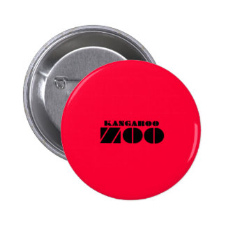 Kangaroo Zoo Label Badge Red Button