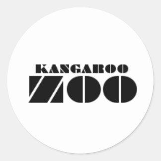 Kangaroo Zoo Label Sticker Small