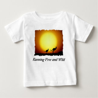 Kangaroos against the desert sun tee shirt