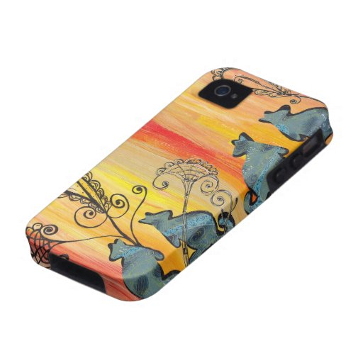 KangaROOS azul iPhone 4 Fundas