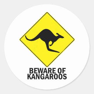 Kangaroos Classic Round Sticker