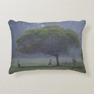 Kangaroos in the Morning Mist Original Artwork Accent Pillow