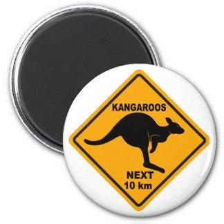 Kangaroos Next 10 km Magnet