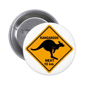 Kangaroos Next 10 km Pinback Button