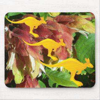 Kangaroos on shrimp plant mousepad