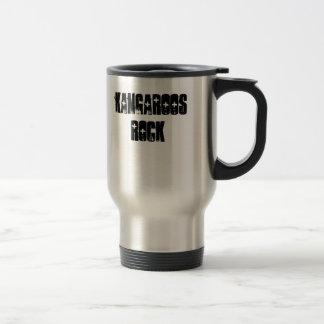 Kangaroos Rock 15 Oz Stainless Steel Travel Mug