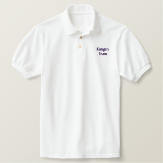 Kangen Team Embroidered Dark Purple Letters Embroidered Polo Shirt