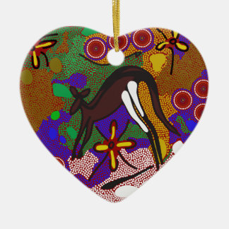 Kanguru aboriginal ceramic ornament