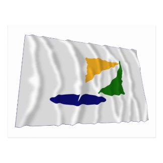 Kangwon-do Waving Flag Postcard