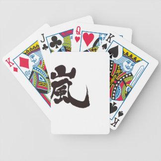 [Kanji] Arashi Bicycle Playing Cards