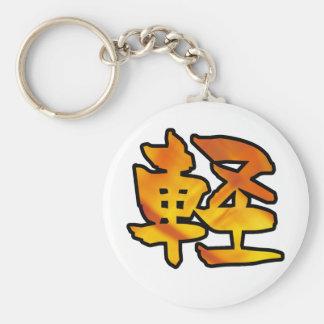 kanji art float basic round button keychain