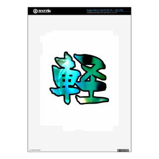 kanji art float decals for iPad 3