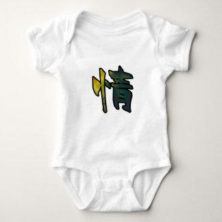 kanji art mercy baby bodysuit