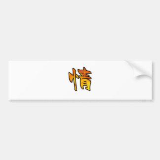 kanji art mercy bumper sticker