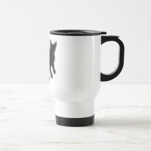 Kanji Cat black 15 Oz Stainless Steel Travel Mug
