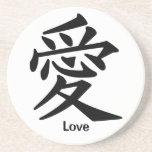 Kanji Character for Love Beverage Coasters