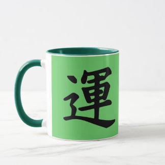 Kanji Character for Luck Monogram Mug