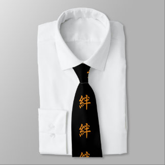 Kanji Characters for Bond in Friendship Neck Tie