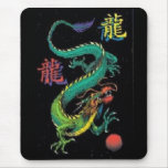 Kanji chino colorido Mousepad del dragón Alfombrillas De Raton