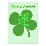 """Kanji Clover 5"""" X 7"""" Invitation Card"""