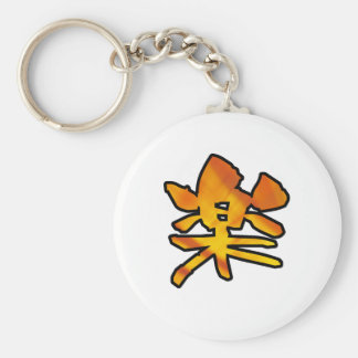 kanji Comfort Basic Round Button Keychain