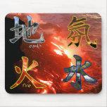 Kanji: Cuatro elementos - Mousepad