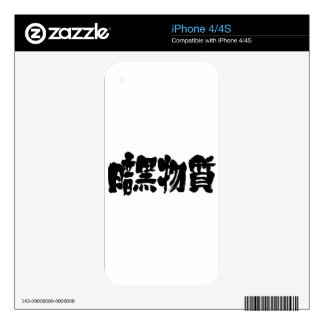 [Kanji] dark matter Skins For The iPhone 4S
