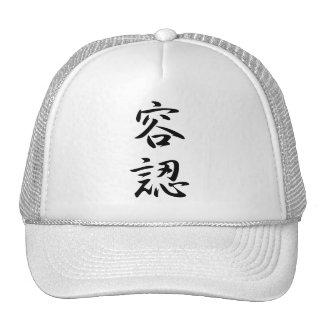 Kanji de la aceptación gorras