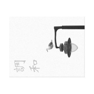 Kanji de la armonía y lona de la gaviota lona envuelta para galerías