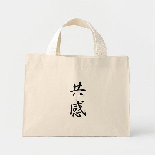 Kanji de la empatía bolsas