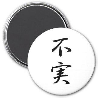 Kanji de la infidelidad imán redondo 7 cm