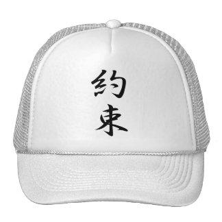 Kanji de la promesa gorras de camionero