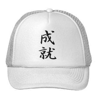 Kanji de la realización gorros bordados