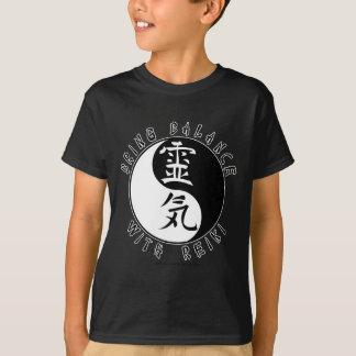 Kanji de Yin Yang Reiki Playera
