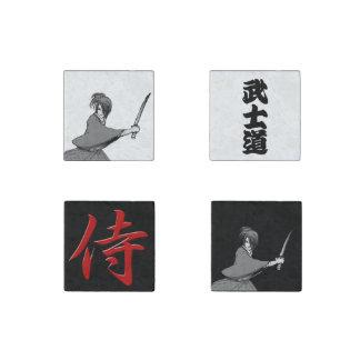 Kanji del bushido de Japón del manga del muchacho Imán De Piedra