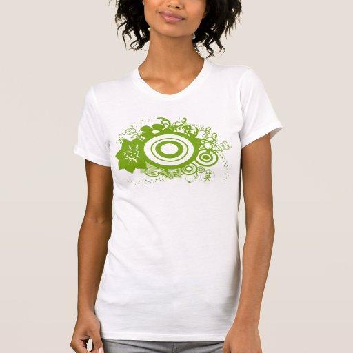 Kanji del círculo de la flor para los remolinos y camiseta