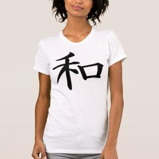 Kanji del japonés de la paz camiseta