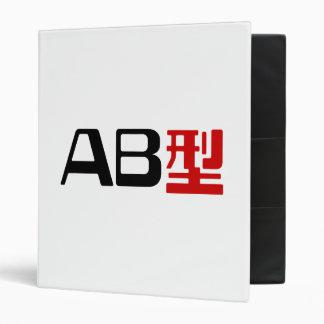 Kanji del japonés del AB del grupo sanguíneo
