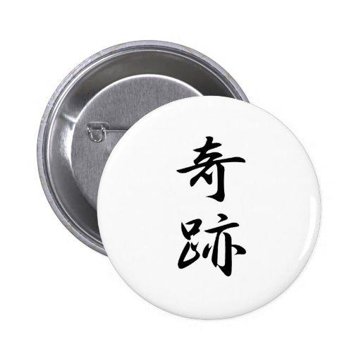 Kanji del milagro pins