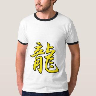 Kanji del oro del dragón remera