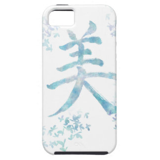 Kanji Design/BEAUTY with watercolor iPhone SE/5/5s Case