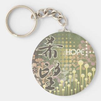 Kanji Design Hope Keychain