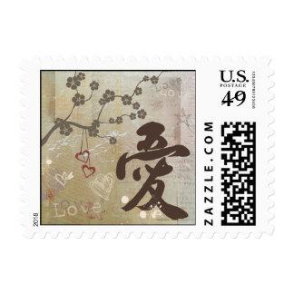 Kanji Design Love Stamp