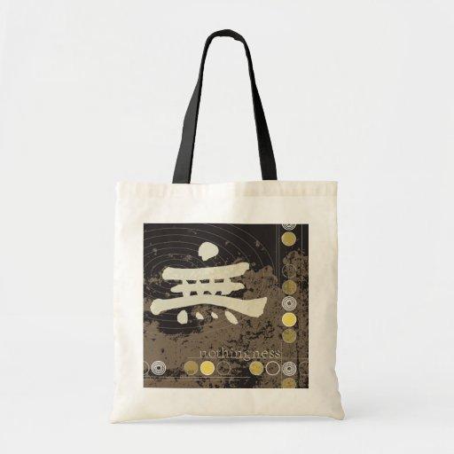 Kanji Design Nothingness Tote Budget Tote Bag